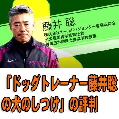 ダメ犬脱出「ドッグトレーナー藤井聡の犬のしつけ」の評判