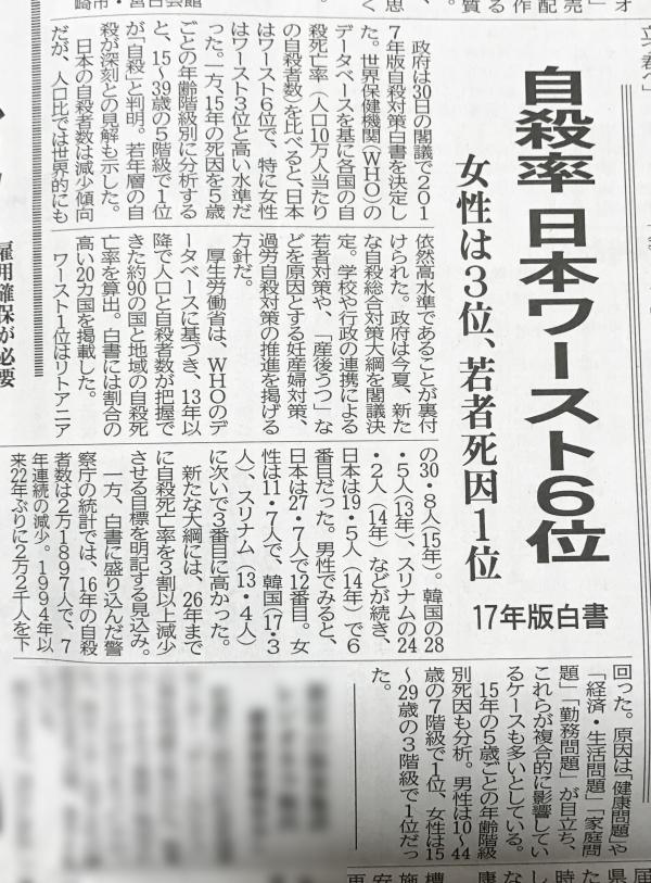 自殺 新聞