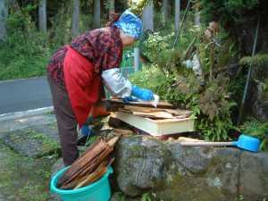 竹の皮洗い