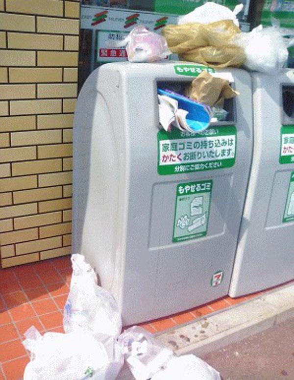 コンビニ ゴミ箱