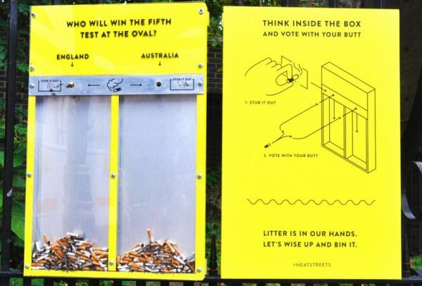 s-タバコ 黄色い投票箱