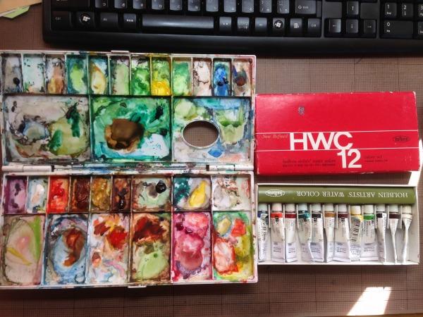 s-水彩絵の具