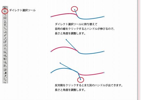 イラストレーターの使い方「ベジェ曲線を描くコツ」