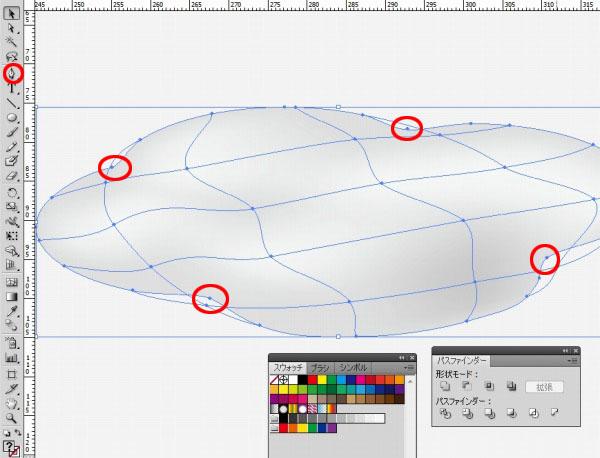 イラストレーター(Illustrator)の使い方:グラデーションメッシュの実演とコツ