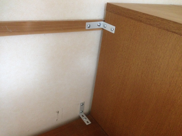 耐震対策!!基本は家具の転倒防止から!