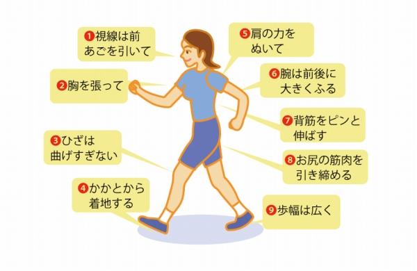 ウォーキングの正しい歩き方 歩き過ぎは逆効果?!